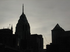 center city philadelphia skyline silhouette just prior to sundown (TynonUser) Tags: usa west coast photo photographer tour child jane fingers gray east angie gimme views gnarly toadie jetaime flunky stockphotographer