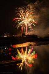 Milton 2016 Fireworks (alohadave) Tags: sky water boston night river effects unitedstates fireworks massachusetts places northamerica dorchester clearsky neponsetriver tidalestuary smcpda1650mmf28edalifsdm pentaxk5 milton2016fireworks