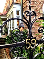 Wrought Iron 59 Gaslight Colonial Architecture Charleston SC at Charleston, SC (gbhartphoto1) Tags: wroughtiron colonialarchitecture charlestonsc gaslight 59
