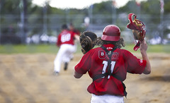 Waiting for it (Danny VB) Tags: baseball catcher games jeux quebec canon summer july mask red