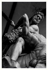 Hercules (jfusion61) Tags: bw sculpture white black florence nikon piazza fighting della hercules dei centaur loggia signoria 2470mm lanzi nessus d810