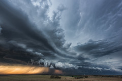Run or hide? (Mike Mezeul II Photography) Tags: sunset sky oklahoma weather clouds crazy atmosphere science thunderstorm supercell