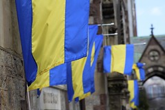 Boston Marathon Flags (Read2me) Tags: she boston flags blue yellow repetition ge thechallengefactory cye pregamewinner