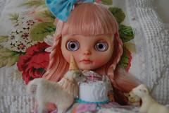 DSC_0015 (Lindy Dolldreams) Tags: cake heaven lamb blythedoll xanamaneca sweetpetiteshoppe
