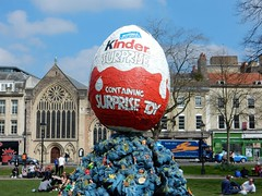 Kinder Surprise (Sa//y) Tags: sculpture art easter bristol spring egg kinder surprise duncanmckellar