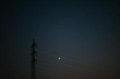 A Moonshard (Sheikh Shahriar Ahmed) Tags: moon digital random dusk surreal line thoughts dhaka bangladesh dhakadivision electricgridline sheikhshahriarahmed