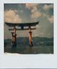 Itsukushima Shrine Torii at Low Tide (Pictures from the Ghost Garden) Tags: color colour slr film japan vintage polaroid sx70 gate shrine hiroshima miyajima tip integral instant torii instantcamera folding impossible ip itsukushima polaroidsx70 onestep instantfilm foldingcameras vintagecameras impossibleproject roidweek2015