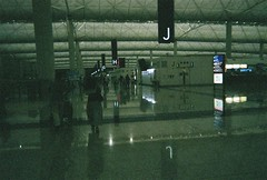 until summer (serenaxliu) Tags: china city travel reflection leave film architecture modern contrast plane dark photography hongkong mirror design airport asia interior flight chinese culture terminal teen tiles grainy conceptual departure sleek disposable