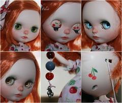 F. A. Cherry, custom n 25, by edeadolls. (edea44) Tags: ooak carving blythe custom fa adoption edea sbl maquillaje pecas adopcin cloud9bowl edeadolls
