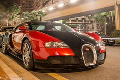 Bugatti Veyron 16.4 (Nico K. Photography) Tags: red black night monaco 164 bugatti veyron hypercar nicokphotography