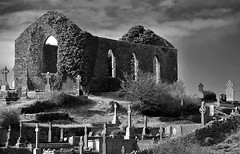 Ennistimon Church (jamiegaquinn) Tags: county ireland bw church mono clare theburren ruin crosses burren celtic gravestones countyclare celticcrosses ennistymon ennistimon