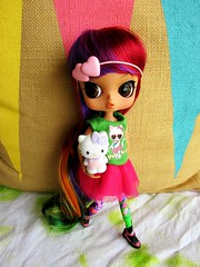 Weekend Wear (kibblesthepig) Tags: hello doll lily tiger kitty groove tokidoki rewigged byul