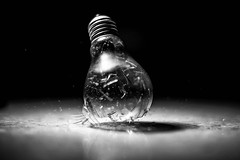 end (francesco_if ) Tags: light blackandwhite lamp bulb speed nikon crash d3 biancoenero lampadina