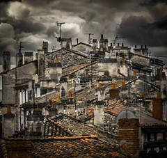 Where is the architect? (Jean-Luc Peluchon) Tags: sky cloud house france weather tile lumix town dramatic ciel nuage maison toit tuile impressive ville roofing toiture angouleme mto dramatique fz1000