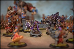 Captain Allister Caine & Ace in Battle (feelinstrangelyfine) Tags: miniatures ace troll caine warmachine cygnar miniaturepainting wargaming trollbloods warmahordes captainallistercaine ecaine