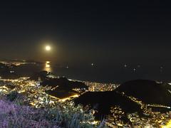 Ro de Janeiro - Corcovado (gastnostorero) Tags: moon night ro janeiro view full corcovado cristo redentor