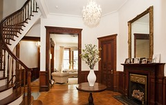 New York West 73rd Street (techpro12) Tags: door stairs mirror woodwork fireplace interior room victorian historic stairway upperwestside banister foyer brownstone