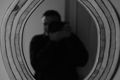 4/365 Reflective (john_s_eddie) Tags: camera wood man mirror