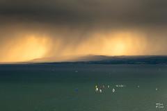Rgate au large de Lausanne (MarKus Fotos) Tags: cloud lake clouds alpes canon landscape switzerland suisse geneva ngc pluie lac cte lausanne ciel leman paysage lman f4 rideau rivage vaud lavaux lutry rgate voiliers