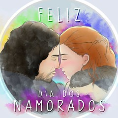 Dia dos Namorados  (Mands Arts) Tags: diadosnamorados felizdiadosnamorados feliz dia dos namorados jon snow ygritte gameofthrones game thrones got g o t desenho desenhos draw digitalpainting digitalart arte digital mandsarts  love couple casal cartoon color colors cores cor colorful colourful colorless red orange blackandwhite black white yellow aquarela watercolor text typography tipografia