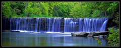 Anderson Falls - Indiana (J Michael Hamon) Tags: camera longexposure nature water 35mm lens landscape waterfall nikon scenery view outdoor widescreen indiana scene falls filter nd vista serene nikkor waterscape hamon neutraldensity d3200 photoborder
