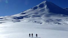 Follow the track! / Siga la huella! (Pjaro Post) Tags: chile patagonia nieve hielo esqu volcn llaima esqudetravesa