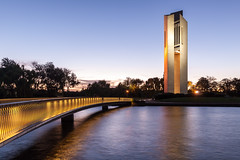 National Carillon, Canberra (russellstreet) Tags: water night australia canberra australiancapitalterritory aspenisland nationalcarillon