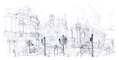 Threadneedle Street & Bishopsgate (_jondixon) Tags: street city urban london pencil sketch drawing