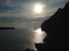 Pronto per svanire (Deni96bo) Tags: sunset sea sun holiday rock sailboat wonderful landscape amazing spain friend sailing shine infinity dreams formentera