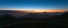 Sunrise Approaching at Heleakala (digital_AM) Tags: morning travel blue light sky orange sun mountains sunrise landscape hawaii maui haleakala
