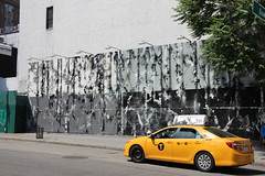 Walking on Houston Street (ShellyS) Tags: nyc newyorkcity art manhattan murals taxis cabs streeets
