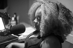 IMG_0307 (Chrissy Tha Black) Tags: show street new york city nyc portrait bw podcast art monochrome wall closeup canon studio fun 50mm for comedy angle good room wide engine culture indoor mikey portraiture pete times network discussion miss podcasting premium likes lissa recording knows creaitves