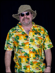 Hawaiian shirt man. (CWhatPhotos) Tags: pictures camera summer sun holiday man color colour male colors hat shirt that lens beard fun photography foot prime hawaii goatee glasses cool shoes colours foto bright image artistic time pics pair hula picture hats pic olympus images shades wear ox have mans photographs photograph ii fotos mens hawaiian colored coloured which 45mm mk multi contain omd hawai hol hawiian em10 cwhatphotos