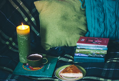 home sweet home (MaL'Va) Tags: home pie cozy warm candle tea details books pillows couch stuff freetime