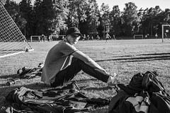 When your team is lossing... (s7even994) Tags: blackandwhite game sports loss finland photo football aland mariehamn