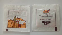 Srie Italie - Vsuve et Pompei 01 (periglycophile) Tags: france sugar series packet say srie italie sucre sachet sucrology beghin priglycophilie