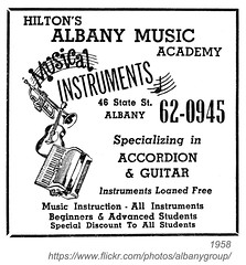 1958 Hilton's Albany Music Academy (albany group archive) Tags: music ny guitar accordion 1958 albany academy instruments lessons hiltons
