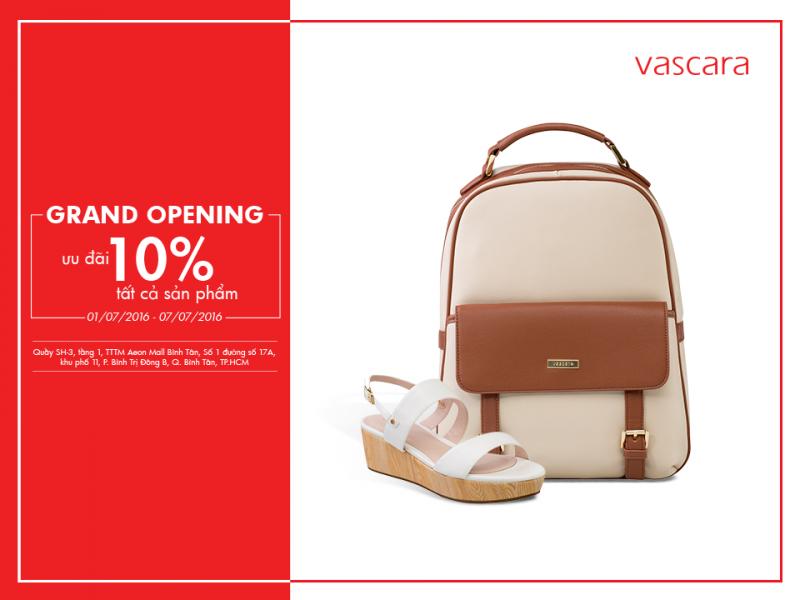 Grand Opening Vascara Aeon Mall Bình Tân - Ưu Đãi 10% Tất Cả Các Sản Phẩm