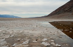 Badwater reflection (Photosuze) Tags: deathvalley landscape badwater reflection salt water clouds sky california desert