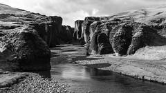 a young landscape looking very archaic (lunaryuna) Tags: river season landscape iceland spring rockface strangeness rivergorge seasonalchange fjadrargljufurrivercanyon soouthiceland archaiclookinglandscapes
