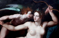 IMG_2966AA Alessandro Allori. 1535-1607.  Florence. Vnus et l'Amour. Venus and Cupid. vers 1570. Montpellier Muse Fabre. (jean louis mazieres) Tags: france museum painting montpellier muse museo peintures peintres musefabre alessandroallori