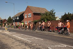 Clacton World Naked Bike Ride 2016 (London Diver) Tags: clactononsea clacton essex clactonworldnakedbikeride2016 clactonwnbr worldnakedbikeride wnbr 2016 world naked bike ride bicycle cycle biking nude men women protest oil rally demonstration outdoor people