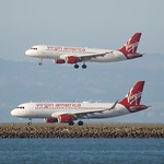 Virgin America Airbus A-320 x2 hot Y cold N284VA N851VA DSC_1566 thumbnail