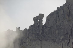 Pi Pillar (Dru!) Tags: rexfordsouthsouth pipillar pillarofpi gendarme tower 314159 granite chilliwack cascades northcascades fraservalley bc britishcolumbia canada granitic chilliwackbatholith mountain alpine cloud fog grey gray silhouette