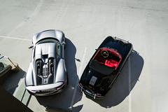 From Above (Noah L. Photography) Tags: porsche 918 spyder 1958 356 speedster silver grey gray black red car sportscar supercar hypercar hybrid convertible german walnut hingwalee davidsklee