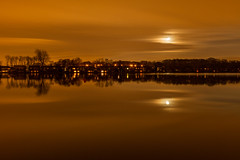 Moonlight  Eccleston Mere (stephenmulvaney) Tags: nightphotography water reflections moonlight longexposures ecclestonmere