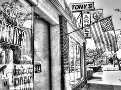 Burbank,CA (tonyair767) Tags: street windows bw white black art monochrome sign mono town flag markets creative stores hdr e510 greytone