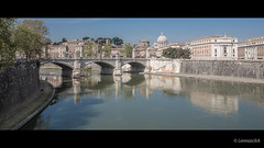 Rome - Italy (Lorenzoclick) Tags: italy vatican rome roma canon river tevere cupolone ef2470 5dmarkiii
