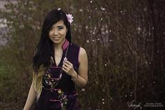 Vietnamese Girl. (InsaneAnni) Tags: portrait germany cherry costume spring vietnamese dress traditional blossoms frhling chemnitz kostm tracht kirschblten   vietnamesin schloschemnitz