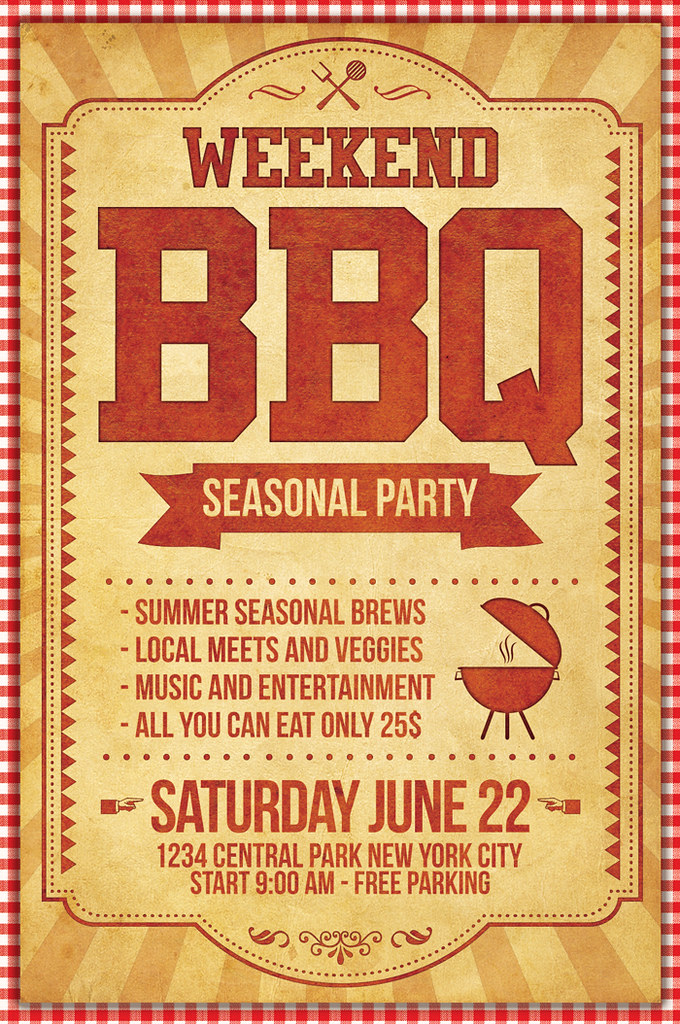 34 Bbq Flyer Templates Free Word Psd Designs Free Bbq Flyer Template